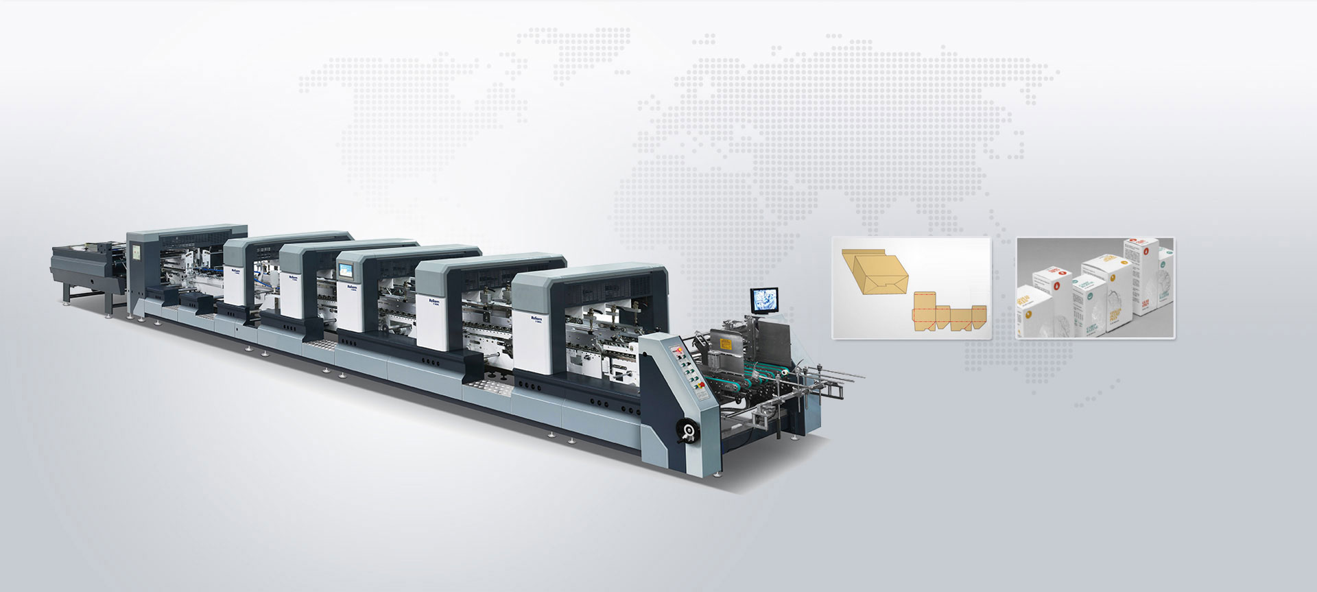 Automatic High Speed Intelligent 4-6 corner Folder Gluer